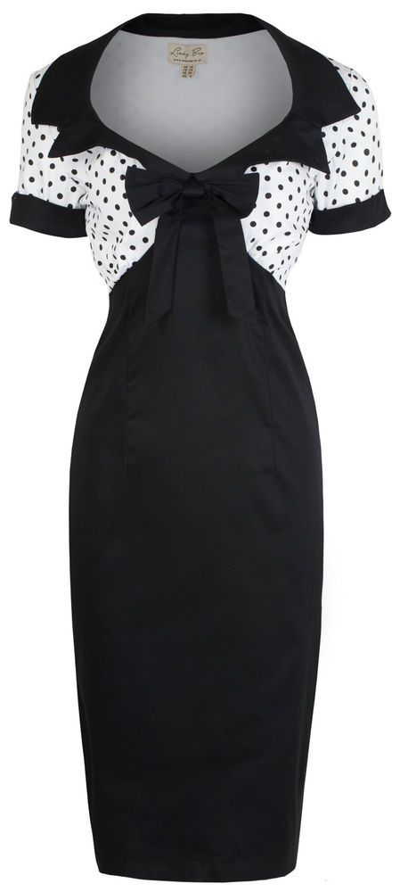 NEW LINDY BOP CHIC VINTAGE 1950's ROCKABILLY PINUP STYLE PENCIL WIGGLE DRESS #LindyBop #1950s #Casual