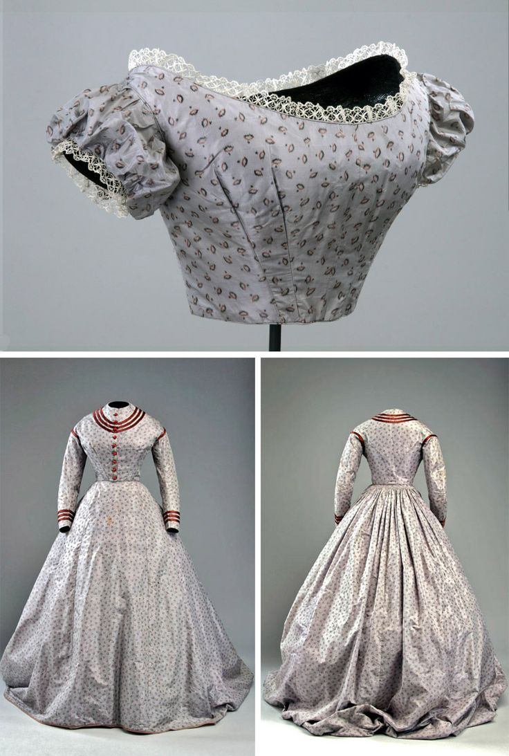 Bodice for evening wear - delicate lace ~~ #Dress with two bodices, ca. 1868. McCord Museum #vintage