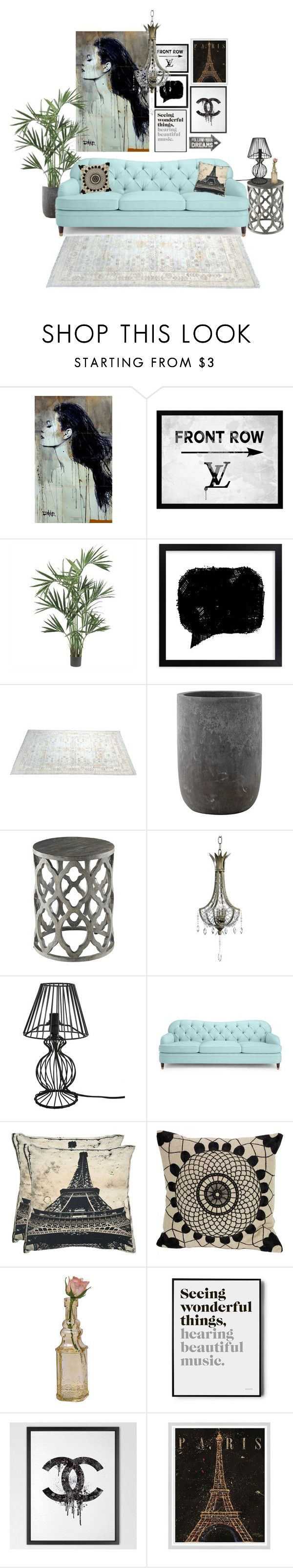 """""""Paris chic"""" by blueeyed-dreamer ❤ liked on Polyvore featuring interior, interiors, interior design, home, home decor, interior decorating, Picture Perfect, Nearly Natural, Bloomingville and Kate Spade"""