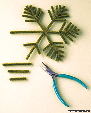 pipe cleaner snowflake/tree