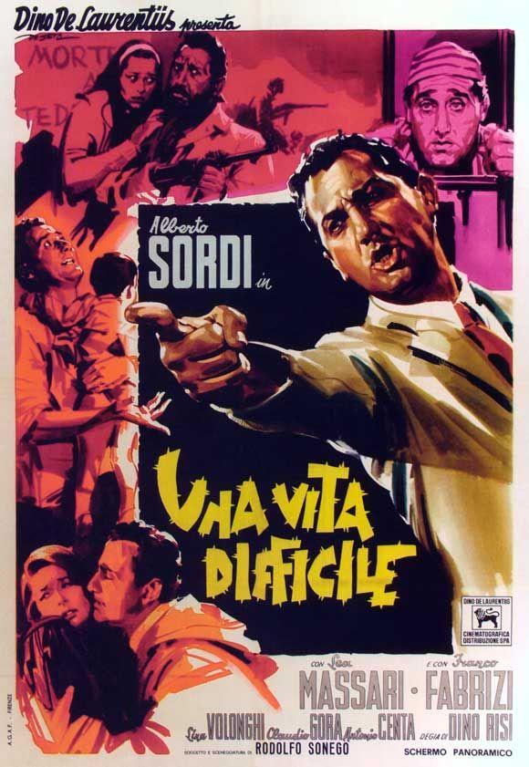 A Difficult Life (1961) Director: Dino Risi ~ Stars: Alberto Sordi, Lea Massari, Franco Fabrizi, Lina Volonghi, Claudio Gora