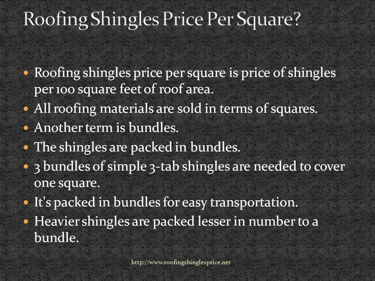 Pin On Roofing Shingles Prices Per Square