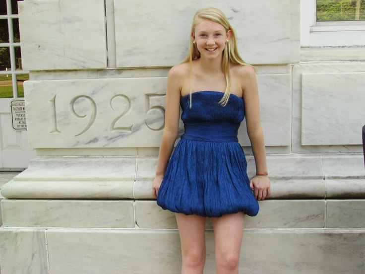Nikko Dress In Sapphire Blue Wearing Color Tween And