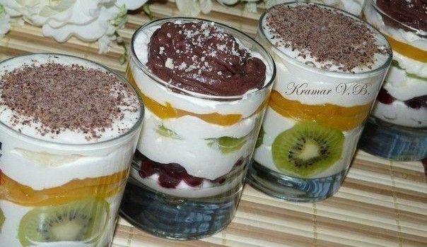 Fitness dezert: Tvarohovo-smotanové poháre s ovocím