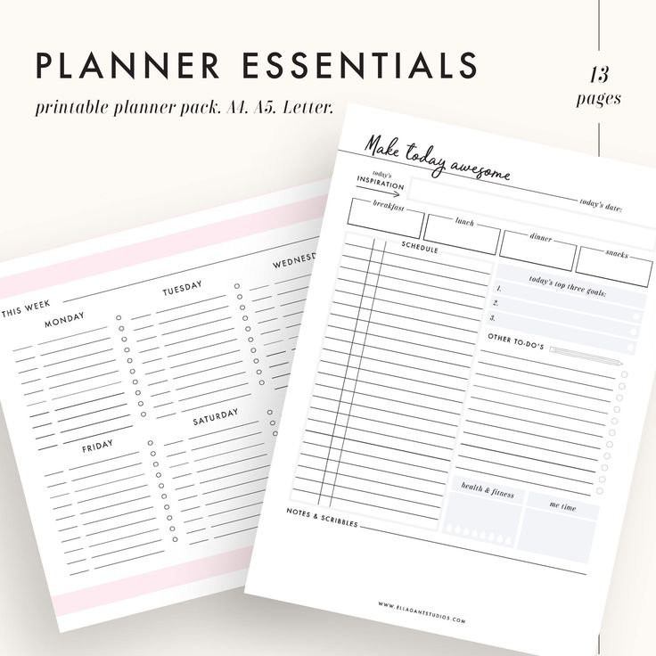 Life planner, daily planner, lifestyle planner, printable