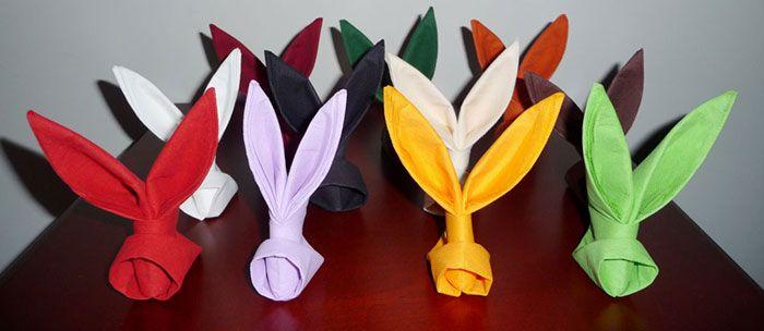 Best 25 pliage serviette paques ideas on pinterest pliage serviette lapin - Decor de table pour paques ...