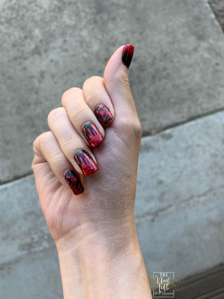 Halloween manicure created using Color Street's Material ...
