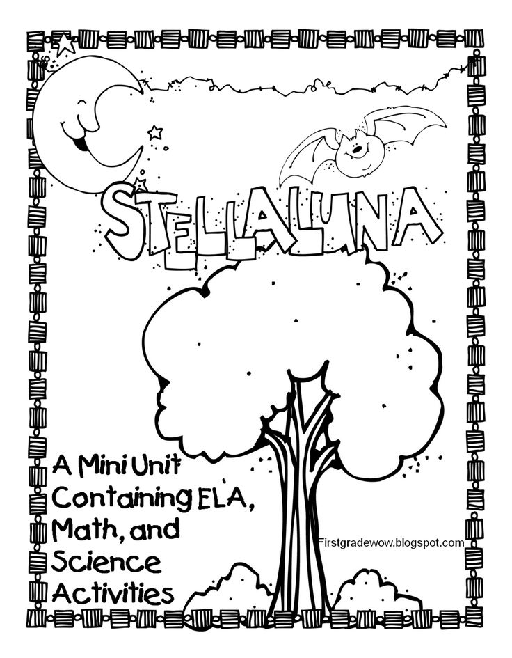 First Grade Wow: Stellaluna Saves the Day! (and the week!) freebie