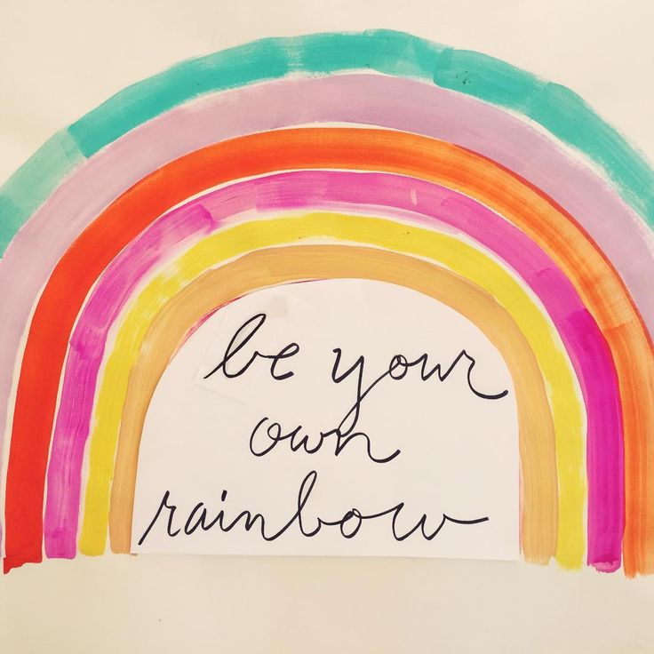 Be Your Own Rainbow by Sisters Gulassa on IG: sistersgulassa