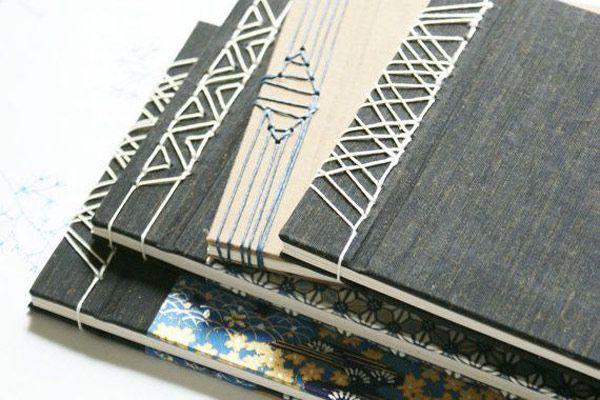 Encuadernacion japonesa: tipos de costuras