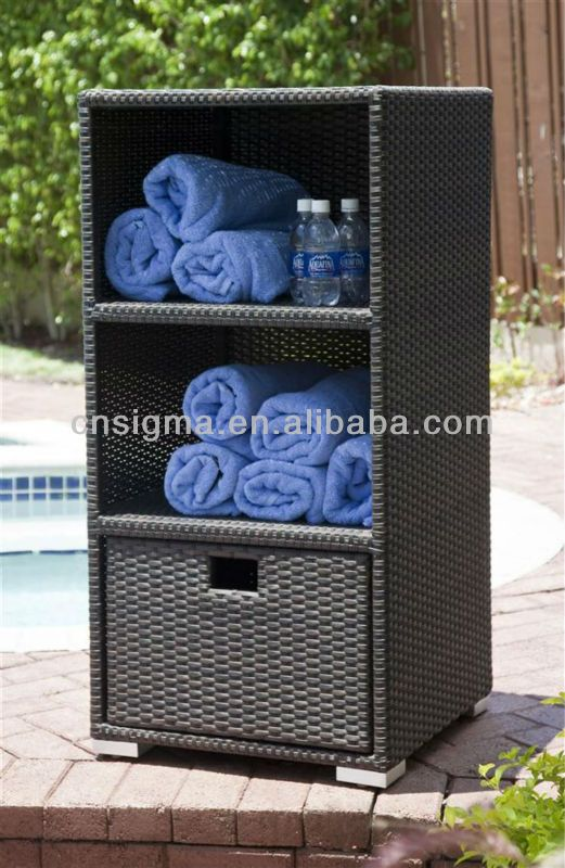 Pool Towel Storage Unit Outdoor B Font Towel Rattan