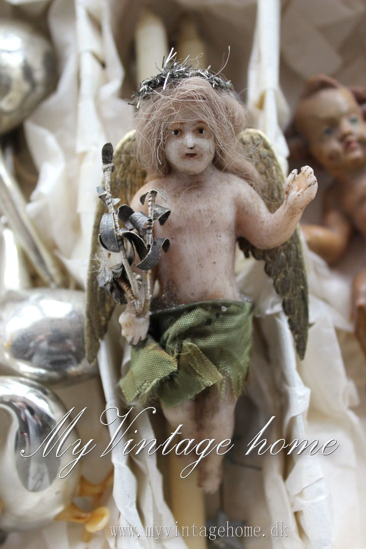 French Antique Wax Angel