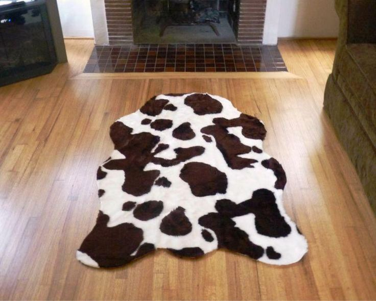 stylish faux cowhide rug
