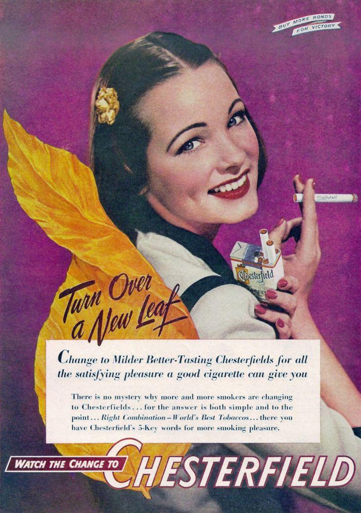 Chesterfield cigarette ad, 1944