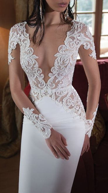 Lace long sleeve gown