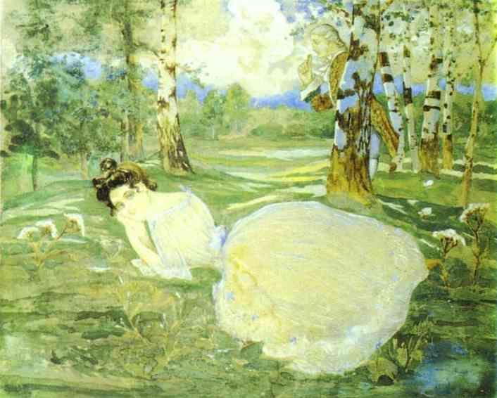 Dans la Forêt (2) de Konstantin Somov (1869-1939, Russia)