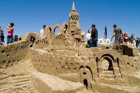 Sand sculpture competition.
