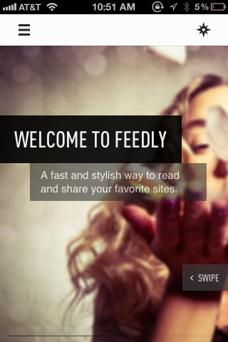 Walkthrough Screens -Feedly / News