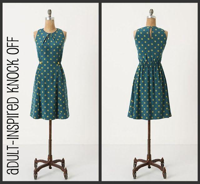 DIY Anthropologie Dress Knock Off - FREE Sewing Tutorial