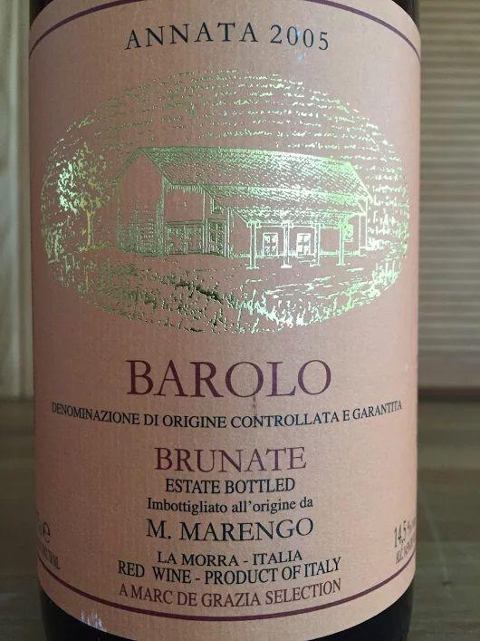 2005 M. Marengo Barolo Brunate... #barolo #barolowine #barololovers #brunate ...
