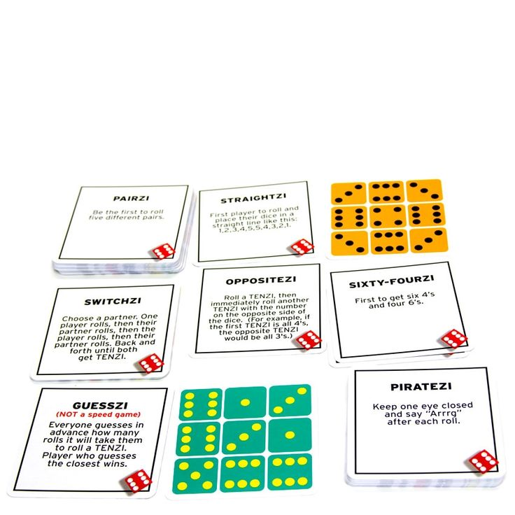 Simple, fast, fun, and purposeful, Tenzi is a perfect addition to your child's curriculum. With 77 Ways to Play Tenzi you will find a number of creative ways to make this dice game interesting.
