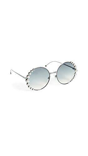 70f45ecafe3 Fendi Women s Round Pearl Frame Sunglasses