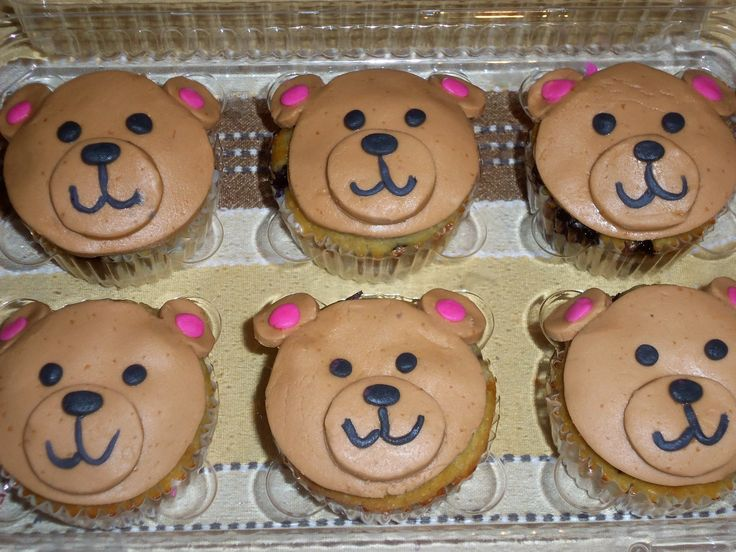 Bears in a cupcake, they are totally eatable and delicious!