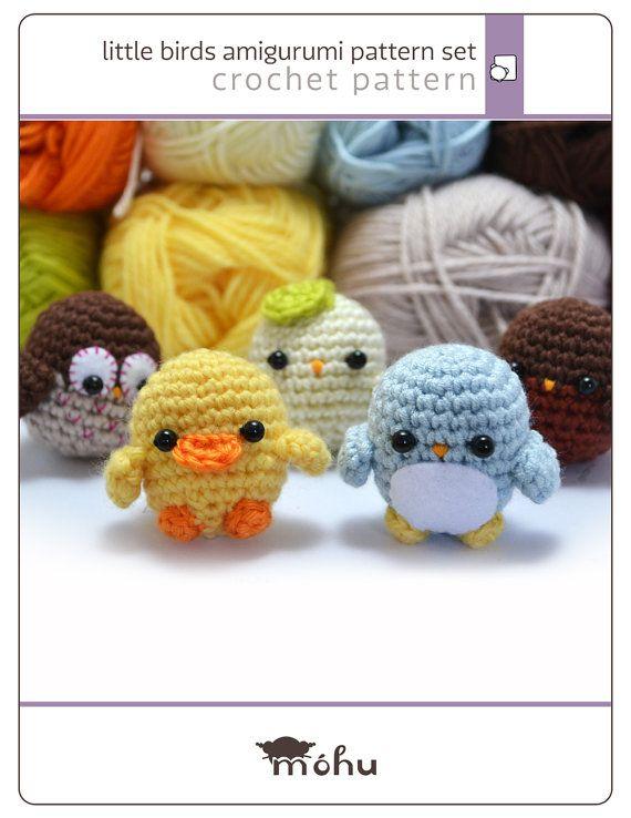little birds crochet amigurumi pattern set  instant by mohustore, $6.00