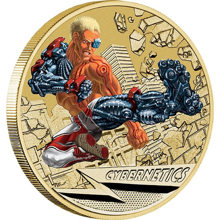 Young Collectors Super Powers Series – Cybernetics 2014 $1 Coin in Card