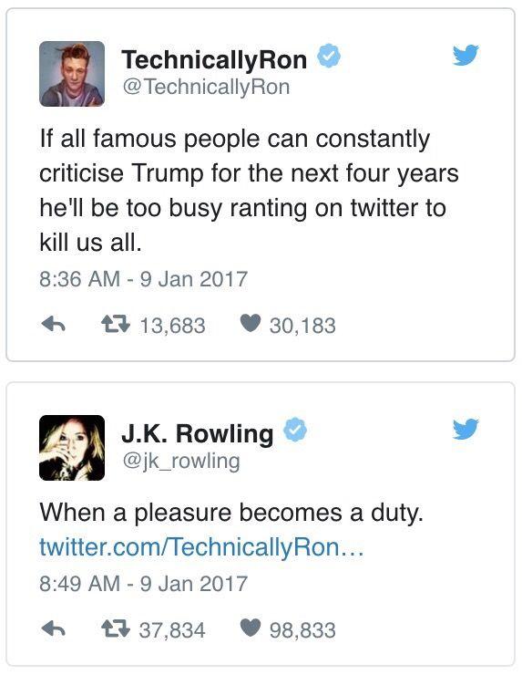 J.K. Rowling is a treasure.