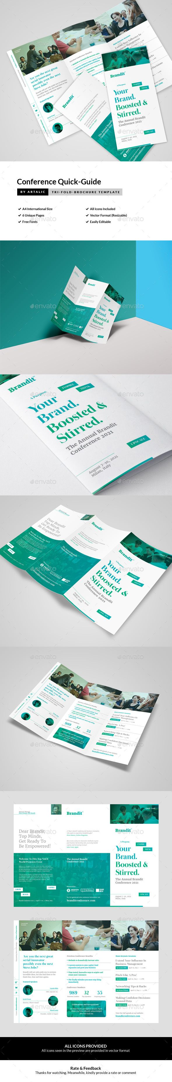 Conference/Seminar Leaflet — InDesign INDD #business #brochure • Available here → https://graphicriver.net/item/conferenceseminar-leaflet/16181530?ref=pxcr
