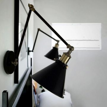 Nordic Retro Style RH Industrial Wall Lamp With Double Adjustable Arm - US$58.73 - Banggood Mobile