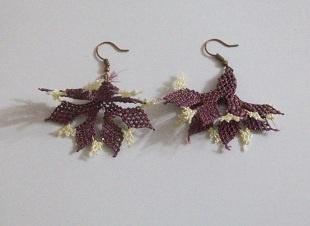 needle lace earrings / iğne oyası küpeler
