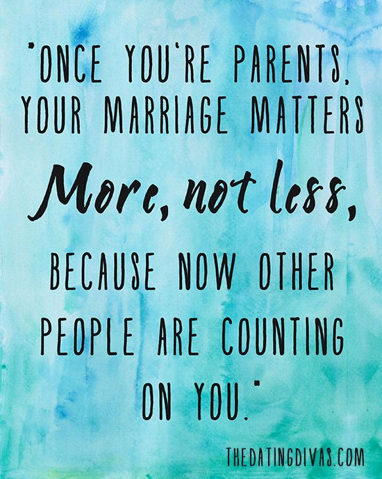 I believe that you should put your marriage before your children. Not only to set an example for them, but also remembering that once the children leave your home, you only have each other.