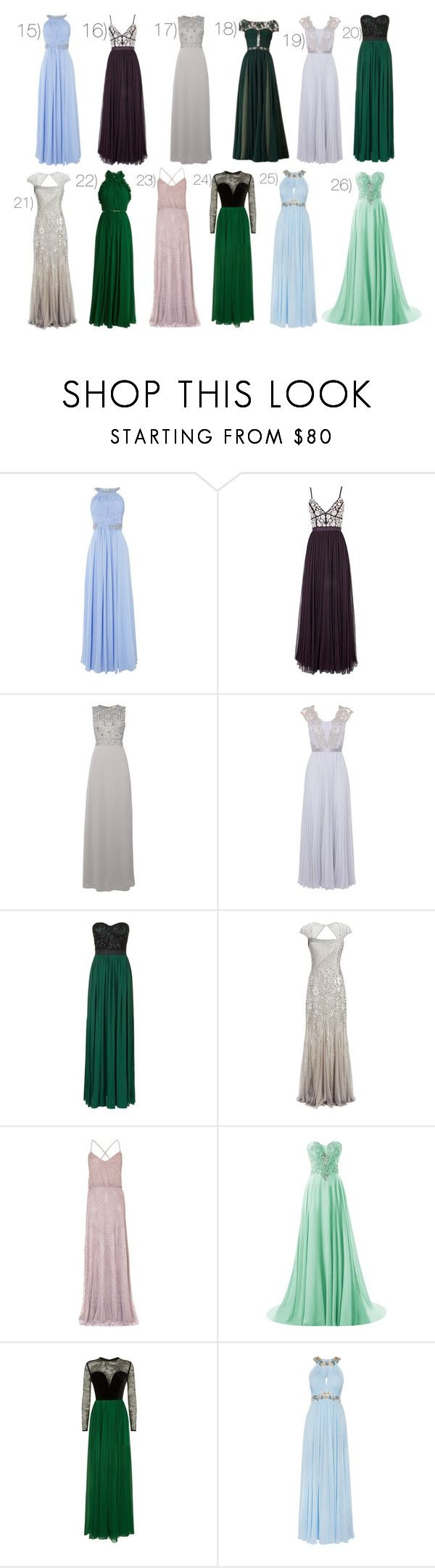 """Dresses: Part 2 (RTD~)"" by moon-crystal-wolff ❤ liked on Polyvore featuring Eliza J, Needle & Thread, Lace & Beads, Coast, Rare London, Adrianna Papell, Elie Saab and Notte by Marchesa"