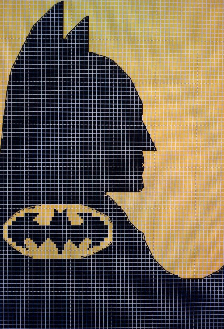Cross stitch Batman made on KG charts.