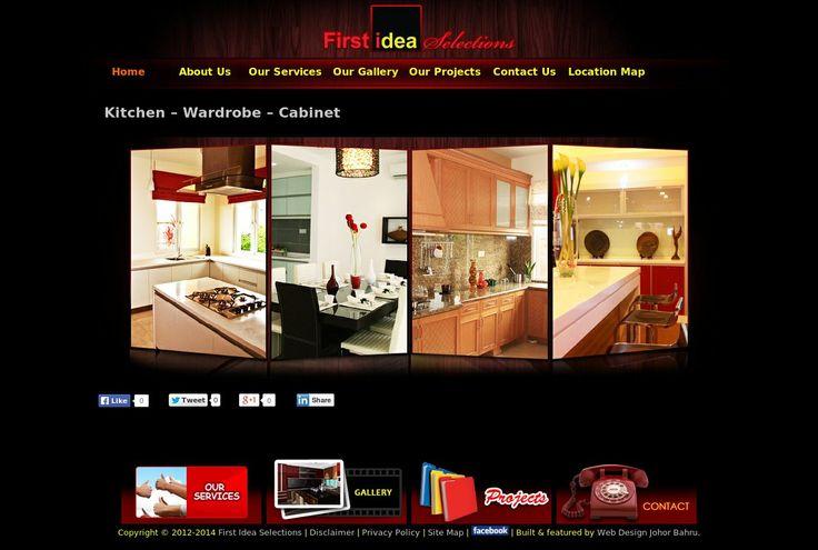 Kitchen, wardrobe, and cabinet website design by Aspire Idea, Web Design Johor Bahru. For gallery and e-catalog website design in Johor Bahru, please visit http://www.aspireidea.net/profile/products/web-design