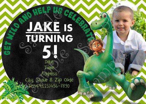 The Good Dinosaur Birthday Party Invitation, FREE thank you card