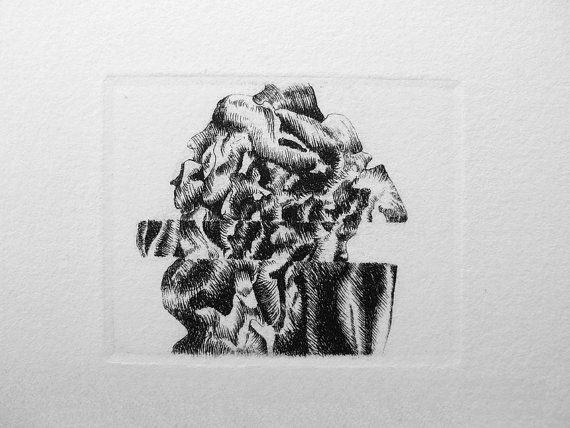 Original Etching. Original Artwork. Intaglio by FerCreations, $20.00
