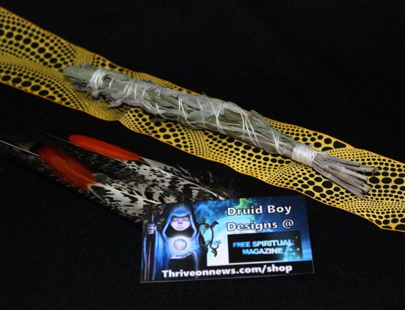 Large White Sage Organic Smudge Stick Australia by DruidBoyDesigns