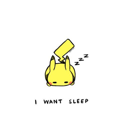 i love pikachu... and sleep. :)