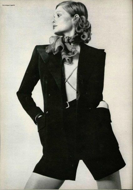1971 - Yves Saint Laurent Couture for l'Officiel | www.recollectvintage.com