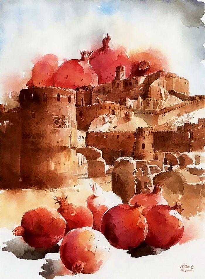 АРТ АРТель про искусство - Watercolor by Ali Akbar Sadeghi. Iran