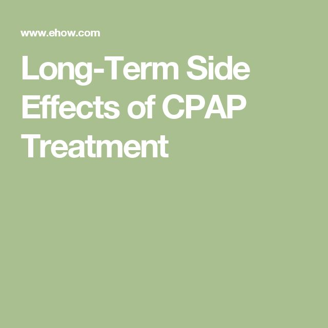 Long-Term Side Effects of CPAP Treatment
