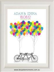 Wedding Balloons Print by Bespoke Moments. Worldwide Shipping Available.