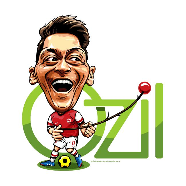 Ozil Caricature by Toni A