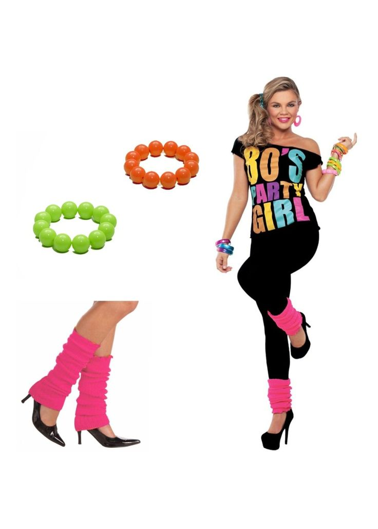 1980s Party Girl Outfit Set