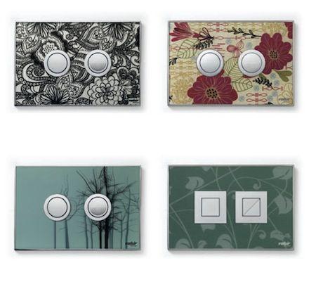Il design si estende alle placche dello sciacquone! Plates for flush cisterns!