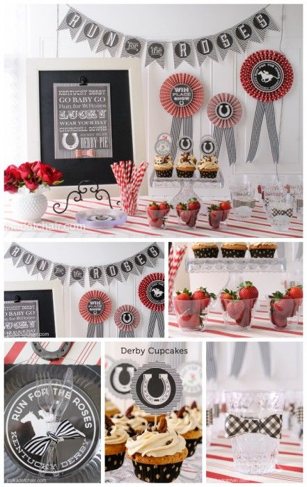 Kentucky Derby Party Ideas and free printables on polkadotchair.com