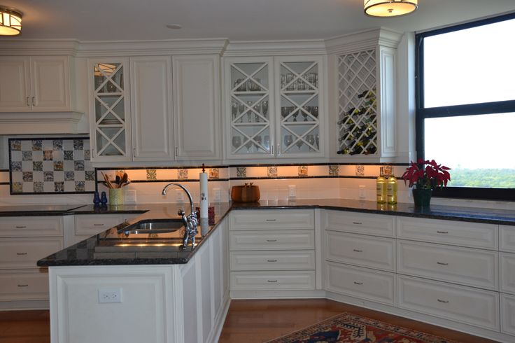 Beautiful White Cabinets With Custom Countertops.